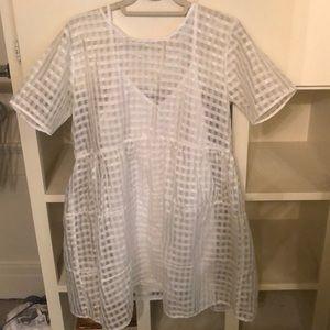 White checkered dress